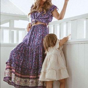 NWT Spell Bravehearts Dahlia Skirt in Purple Haze